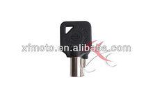 Motorcycle Key for Harley motor blank switch round keys for XL FX Black
