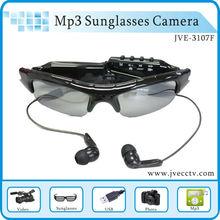 Max 8GB JVE-3107F video glasses camera Mp3 player camera sports sunglasses