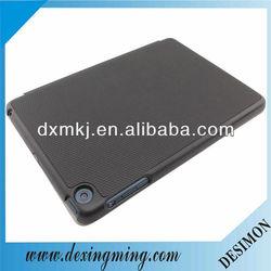 New arrival!black basketball grain PU leather case for iPad mini