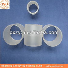 Large Surface Area Plastic Raschig ring&Anti acid&alkali Raschig ring with plastic