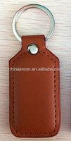 simple handmade China Rectangular Personalized Blank Leather Keyring Keychain Key Fob