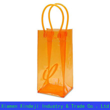 PVC Wine Bottle Bag Ice Chiller Carrier Bag
