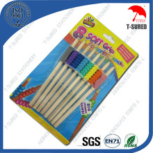 8 Pcs Kids Natural Wood Color Pencil Set