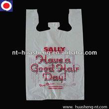 HDPE supermarket t-shirt shopping bags