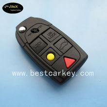 Hot sale 5 button remote key cover for volvo key cover key shell key (NE66 blade) S60,S80,V70,XC70,XC90