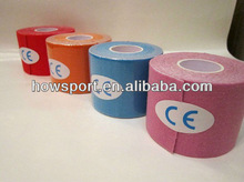 best selling physiotherapy sports kinesiology tape 5cmx5m for European clients CE/ISO ( S )
