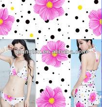 warp knitted spring summer fashion fabric for swimwear/bikini