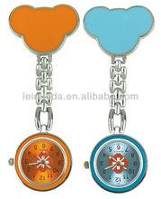 Custom logo Cartoon quartz nurse pin watches for nurses (CE/Rohs)