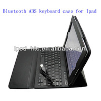 Wireless Bluetooth abs leather case keyboard Leather Cover for iPad 2&3