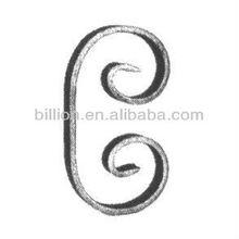 2012 china manufacturer steel ornamental curl of solid bar