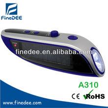 A310 Lithium Battery Solar Radio Hand radio flash lig