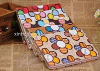 For Apple iPad Mini Sun Flower PU Leather Folio Stand Case Cover