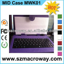 2012 fashion leather case for 9.7 inch tablet pc with keyboard suitable for all 9.7 inch tablet PC