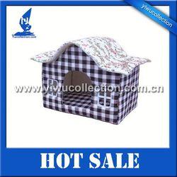 foldable cotton pet dog kennel, polar fleece dog cage