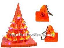 flashing traffice cone key chain/lifelike traffice cone key