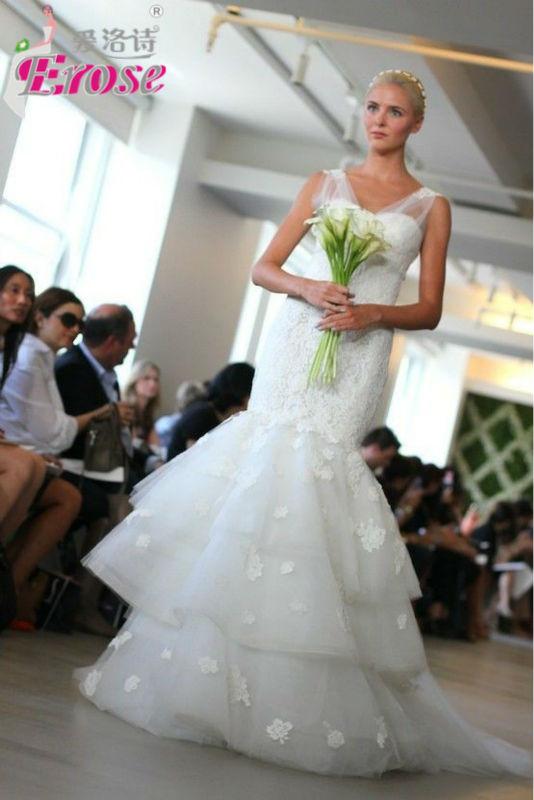 Gj042 2013 sirène dentelle robes de mariée turquie Istanbul