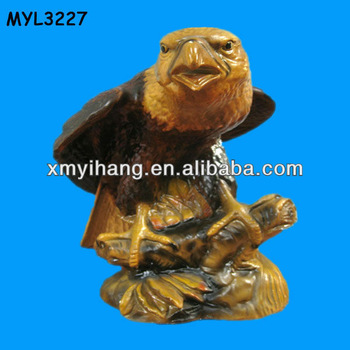 resin black eagle sculpture