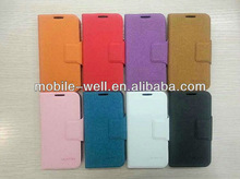 leather flip case for samsung galaxy i9500 s4 with Pure Classic