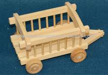 new designed environmental unfinished wooden truck model for children toy wholesale