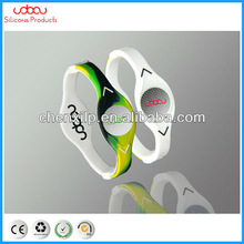Double color energy bracelet, 100% pure silica gel, Fashion Bracelet