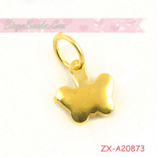 Gold Star Charms with Bails Cute Pendants For European Charm Bracelets Handmade Jewelry
