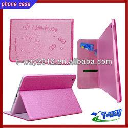 New arrival hello kitty wallet case for mini ipad