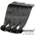 Trama de la piel sin fisuras las extensiones de cabello, suave como la seda recta clip en la extensión del pelo