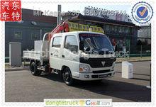 Foton 4*2 truck with 3.2 tons UNIC kunckle crane,Lorry-mounted crane.Algeria market +86 13597828741