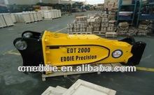 Hydraulic breaker excavator attachment
