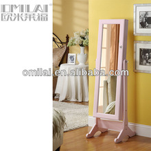 Floor stand dressing mirror french style furniture antique jewelry cabinet