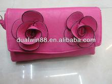 wholsale pu flower ladies bag sling bag