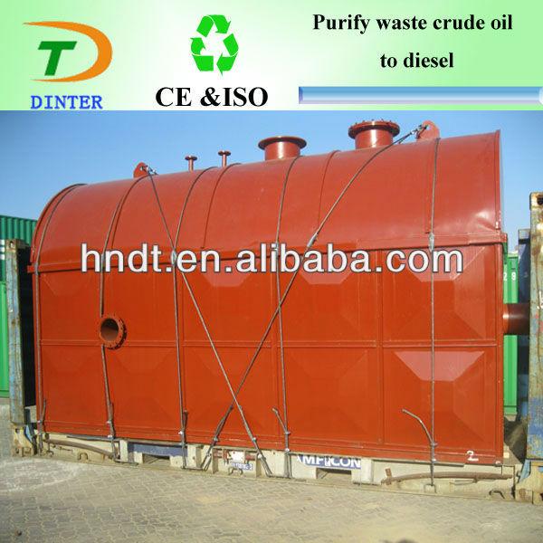 used engine oil recycle to diesel oil line