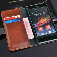 New Pocketbook Luxury Wallet leather case Cover bag For Sony Xperia Z L36h C6603