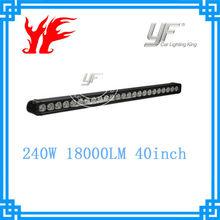 single row 40'' 240Watt LED light bar 10W for 4X4, SUV, UTV