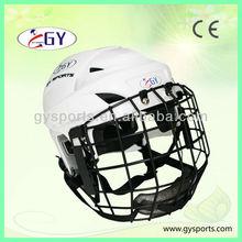 CE Custom Ice Hockey Helmet with EPP foam liner, ice ball helmet, white hockey helmet