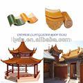 chino clásico de la construcción de la cultura teja vidriada tradicional china