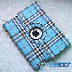Scottish plaid Style Leather Case For iPad 2 iPad 3 iPad 4 Leather Case