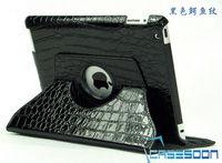 Crocodile lines Pu Leather Case For iPad 2 iPad 3 iPad 4 Croco Pu Leather