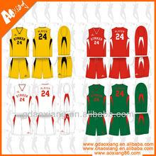 Hot sale professional league matches basketball jersey uniform