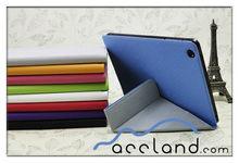 Leather Basketball Skin Triangle Fold Flip Stand Slim Cover Case for iPad Mini