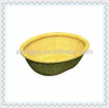 rattan woven oval storage baskets