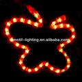 2012 la estrella de armazón de alambre de navidad con motivos de luz