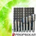4 12v pulgadas de cc de la bomba hidráulica para el riego(incluyen el panel solar y los controladores de) con 4.2cbm/h 41m