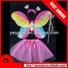 Fashion nylon fairy butterfly wing for party costume headband wand wing set