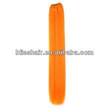 20 Inch Neon Orange Synthetic Straight Weft