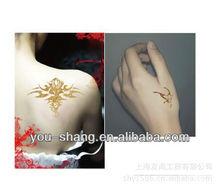 2013 new design shimmer glitter tattoo stencil