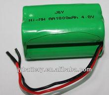 Solar lamp battery nimh rechargeable battery pack AA1800mAh 4.8v