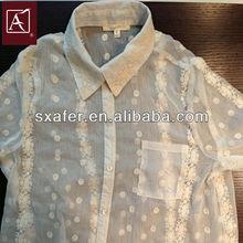 plain embroidery lace fabric/chiffon fabric embroidered