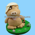 engraçado ursinho decorativos polymer clay figurine animal