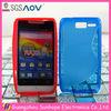 S curve rubber phone case for motorola RAZR D1